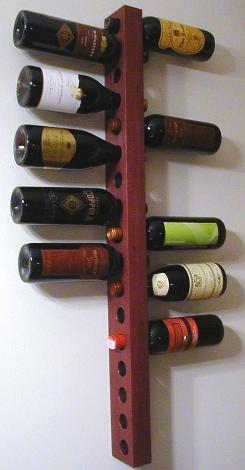 wine rack walnut ebony or purpleheart