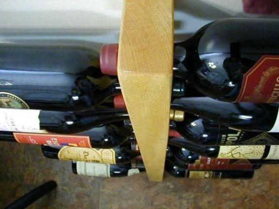 yellowheart wine rack natural hardwood wall art